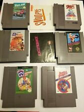 NES 6 GAME LOT: 6 CARTS, 2 MANUALS, All Sports Themed
