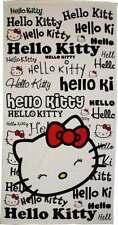 (195) Serviette de plage ou drap de bain Hello Kitty