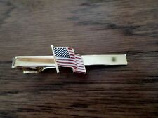 U.S FLAG U.S.A FLAG TIE BAR TIE TAC AMERICAN FLAG MADE IN THE U.S.A