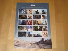 2017  LS106 STAR WARS Souvenir Sheet  Droids, Aliens & Creatures Collector Sheet