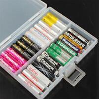 1 x Aufbewahrungsbox für 48 AAA Batterie Batteriebox klar Kunststoff Akku Box
