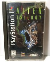 1997 Silver Label Disc SCRATCHED Alien Trilogy Long Box Video Game Playstation 1