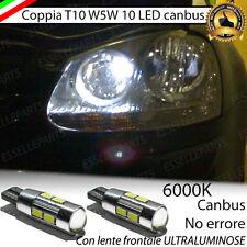 COPPIA LUCI POSIZIONE 10 LED PER VW GOLF 5 V T10 W5W CANBUS 100% NO ERRORE