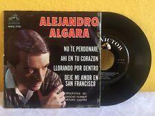 """ALEJANDRO ALGARA NO TE PERDONARE / LLORANDO POR DENTRO MEXICAN 7"""" EP PS BOLERO"""