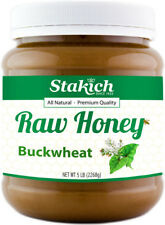 Case of 6 Jars 5lb Buckwheat Raw Honey Antioxidant Rich 100% Pure Natural Fresh