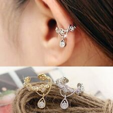 1pc Women Personality Crystal Starfish Ear Clip Cuff Earring Stud Jewelry Gift
