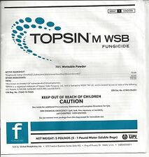 Topsin M WSB Fungicide Thiophanate-methyl 70% (5 x 1 lb Water Souluble Bags)