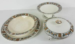 Various Dishes Earthenware Hbcm (Between 1920 And 1955) Model Elisabeth