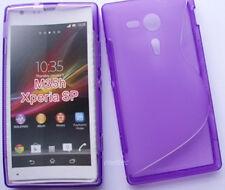 pour votre xperia sp m35h case cover étui housse coque souple s-line, violet