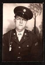 MEAN MUG SCAR FACE ARMY MAN GUNG-HO BADASS 1940s VINTAGE PHOTO! gay