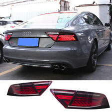 For Audi A7 S7 Tail Lights Assembly 2012-2018 Red Color All LED Rear Lamps
