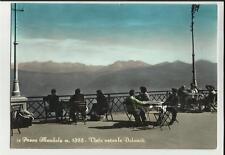 vecchia cartolina  primo colore passo mendola  molte persone ai tavoli