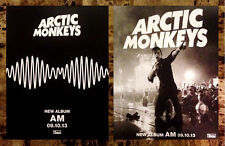 ARCTIC MONKEYS AM Discontinued Ltd Ed RARE Mini-Poster Display +FREE AM Stickers