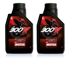 MOTUL 300V OLIO MOTORE 100% SINTETICO DOUBLE ESTER 10W-40 QUANTITA' 2 LITRI