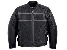 Harley Davidson Men S.W.A.T. SWAT Black Leather Jacket Reflective 2XL 97107-12VM