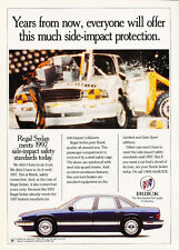 1993 Buick Regal Sedan - safety - Classic Vintage Advertisement Ad D05