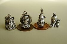 SET of 4 BEAUTIFUL WIZARD OF OZ STERLING CHARM CHARMS