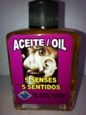 MYSTICAL / SPIRITUAL OIL (ACEITE) FOR SPELLS & ANOINTING 1/2 OZ 5 SENSES