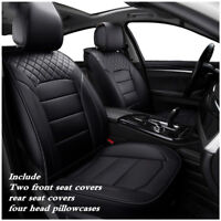 Luxury PU Leather 5-Seats Sedan SUV Car PU Leather Seat Cover Front+Rear Set