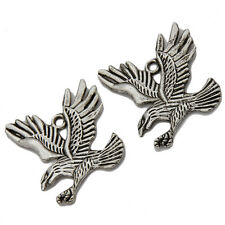 10x New Sale Vintage Silver Charms Eagle Alloy Jewelry Dangle Pendant 36*32mm L
