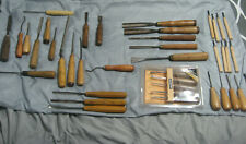 VINTAGE MIX LOT WOOD CARVING TOOLS H TAYLOR HERRING BROS PFEIL SWISS BUCK BROS +