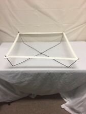 """Portable Collapsible Clothes Drying Web Rack 24.5""""x24.5"""" Vintage Travel Folding"""