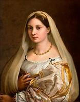 17.8x22.9cm Art Photo Imprimé - la Donna Velata par Raphael (Peint en 1515)