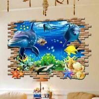 3D Wand Aufkleber Unterwasserwelt Tier Boden Aufkleber Kind Schlafzimmer De B1N3