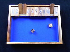 Shut the Box wood game #1-12 high quality from our shop
