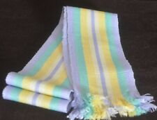 Vintage Striped Silky Belt In Pastel Colors Hippy Style Uu275