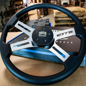 "18"" Black Polyurethane Steering Wheel with Blackt Horn for Freightliner 96-06"