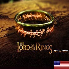 Punk Mens Lord of the Rings the One Ring Lort Stainless Steel Band Titanium Hot