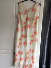 Anne Harvey 100% Silk Ladies Summer Dress Size 22  Sleeveless Floral Pattern