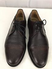 2516bbc548dc Johnston Murphy Cellini Men s Shoes Dark Brown Leather Size 8.5M Made In  Italy