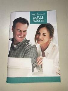 Nutrisystem Meal Planner Book Daily Tracker Dining & Grocery Guide No Writing