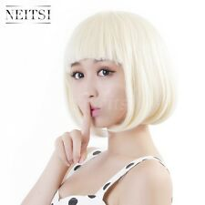 1Pcs Short Straight BOB Hair Wigs Cosplay Anime Party Daily Full Wig Synthetic