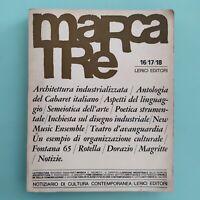 MARCATRE Notiziario di cultura contemporanea 16/17/18 1965 - Lerici Editori