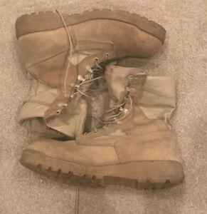 Belleville Vibram Military Desert Storm Tan Suede Combat Boots Mens Sz 11.5 R