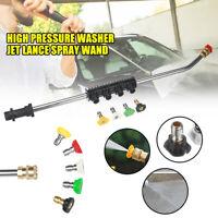High Pressure Washer Jet Lance Spray Wand + 5 Nozzle Tips 1/4 for Karcher K1-K7