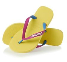 Havaianas Top Mix Flip Flops Revival Yellow Thongs Sandals Beach  US 6 37 38 NEW