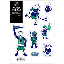 Vancouver Canucks Family Decals 6 Pack [NEW] Auto Car Stickers Emblems NHL CDG