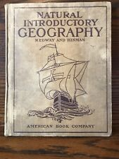 Natural Introductory Geography 1907 Redway & Hinman Hardcover Antique Textbook