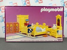 Playmobil 5321 Victorian Yellow Bedroom Set Sealed in Box (Shows Some Damage)