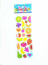 2017 New Style Fruit World Bubble Removable Stickers Scrapbook Kids Favor Gifts