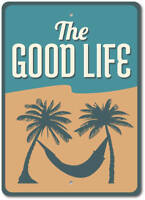 Good Life Sign, Beach Life Sign, Hammock Sign, Beach Life Decor ENSA1002946