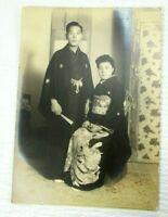 Sugiura Studio Asian Couple Traditional Fashion c 1920 Photo japanese wedding