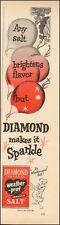 Vintage ad for Diamond Salt`Art Cartoon Duck retro Red (122515)