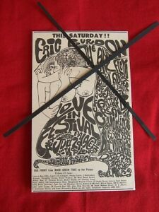 PINK FLOYD 1967 VINTAGE GIG CONCERT ADVERT LOVE IN FESTIVAL ALEXANDRA PALACE