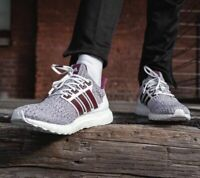 Mens Adidas Ultra Boost 4.0 Cloud White Maroon Burgundy EE3705 NEW