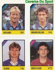 117 BREHME - MANDORLINI - KUBIK - BRESCIANI CARD CARTA CALCIO QUIZ VALLARDI 1991